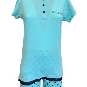 Pigiama Coconuda corto in cotone