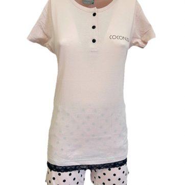 Pigiama Coconuda corto in cotone Rosa
